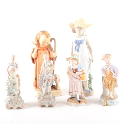 Lot 28-A Nao figure, a girl with a parasol, ...