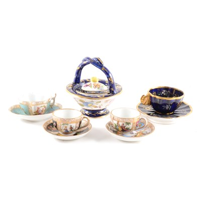 Lot 43-A Meissen cabinet cup and saucer, ...