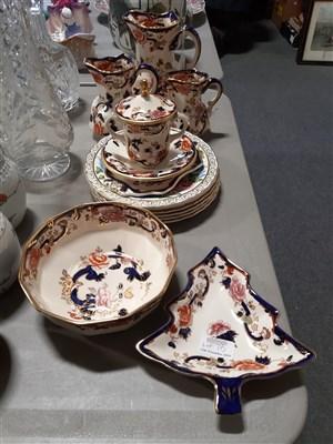Lot 10-A quantity of Masons 'Mandalay' pattern ware and six Coalport limited edition rose plates.