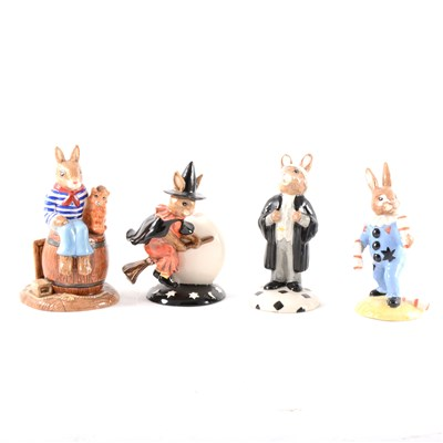 Lot 35-A collection of thirty Royal Doulton Bunnykins models, ...
