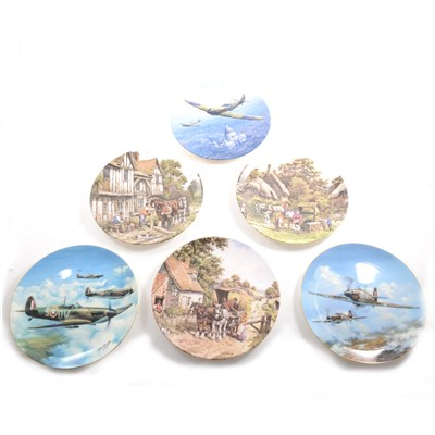 "Lot 43-A quantity of limited edition collectors' plates, including Royal Doulton ""Heroes of the Sky"""
