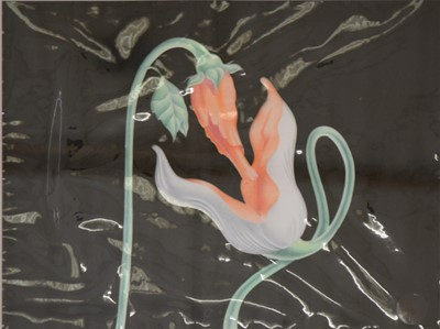 """Lot 82 - Pink Floyd; The Wall, original animation art work, two celluloids """"Copulating Flowers"""" and """"Essays & Effluvia"""""""