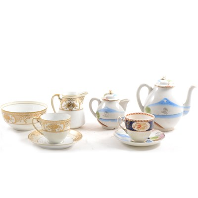 Lot 47-A Noritake tea service,, another eggshell porcelain service, and a Staffordshire part service