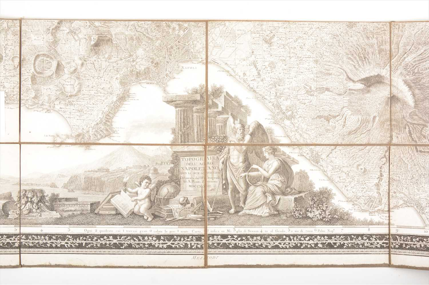 Lot 545-Rizzi Zannoni, Topografica Dell' Agro Napoletano, 1793, and other maps