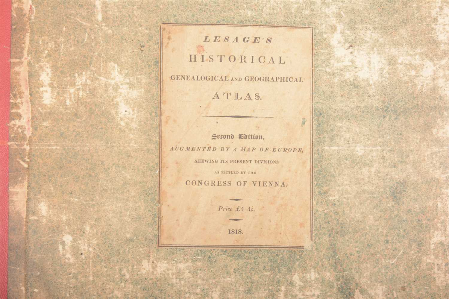 Lot 546-Le Sage's Historical, Genealogical, Chronological and Geographical Atlas, and Bell's A View of Universal History, (2).