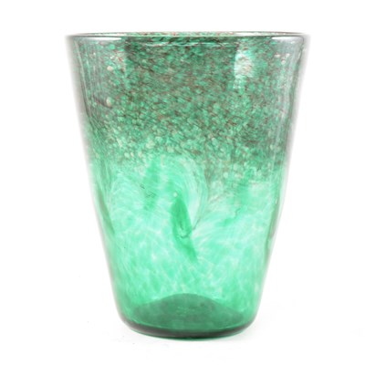 Lot 10-A Strathearn Glass vase, tapering form with gold inclusions
