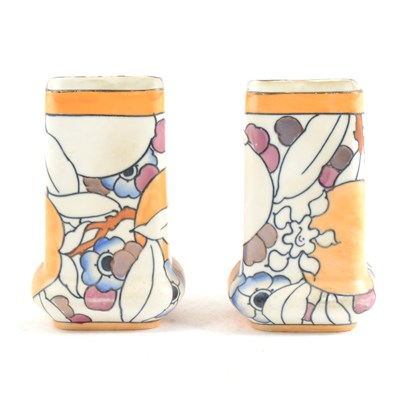 Lot 9-A pair of Burleigh Ware vases, designed by Charlotte Rhead, ...