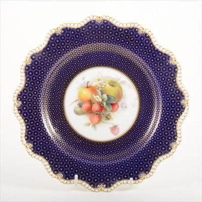 Lot 29-Royal Worcester cabinet plate