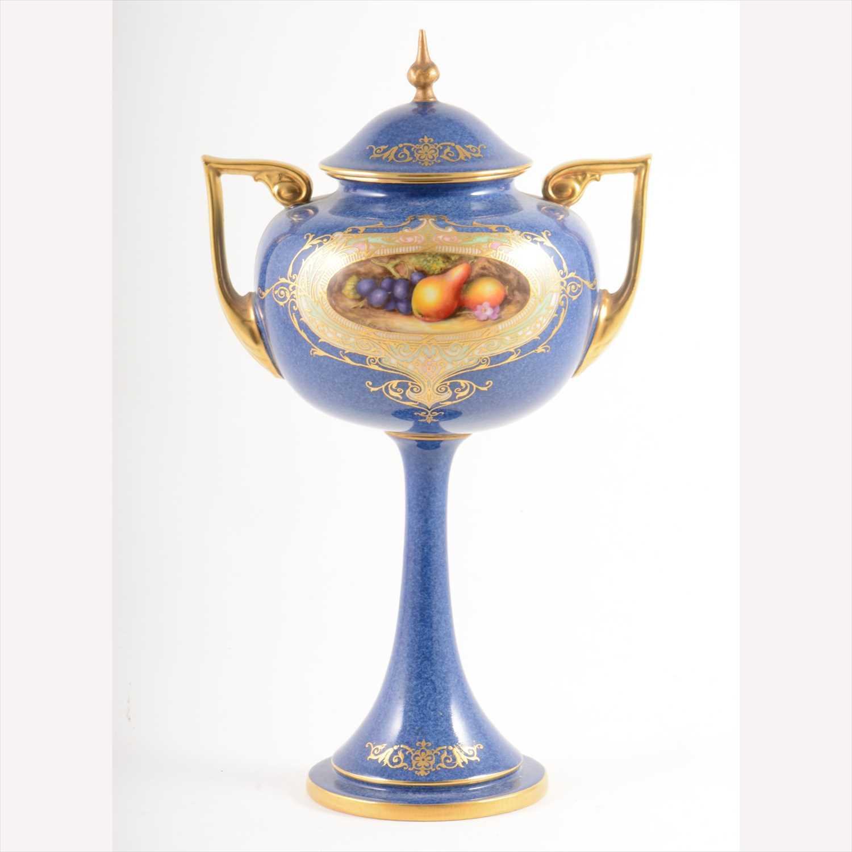 Lot 514-Royal Worcester ornamental covered vase