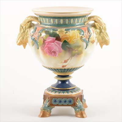 Lot 31-Royal Worcester campana shape vase