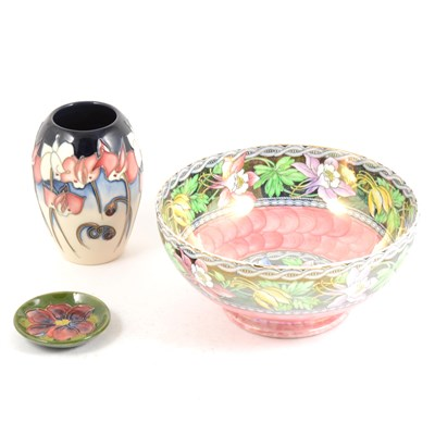 Lot 7-A Moorcroft vase, decorated with lilies, ...