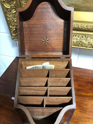 Lot 537-A George III mahogany knife box, adapted as a stationery box