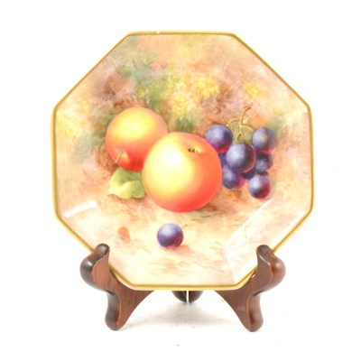 Lot 25A-A Royal Worcester octagonal-shape dish, ...