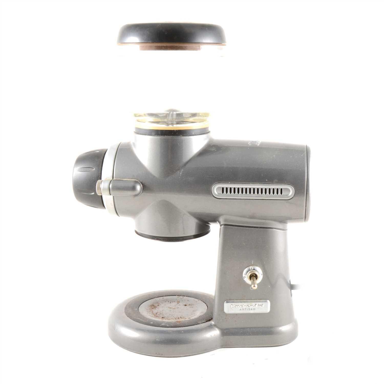 Lot 33-A Kitchenaid Artisan coffee grinder, ...