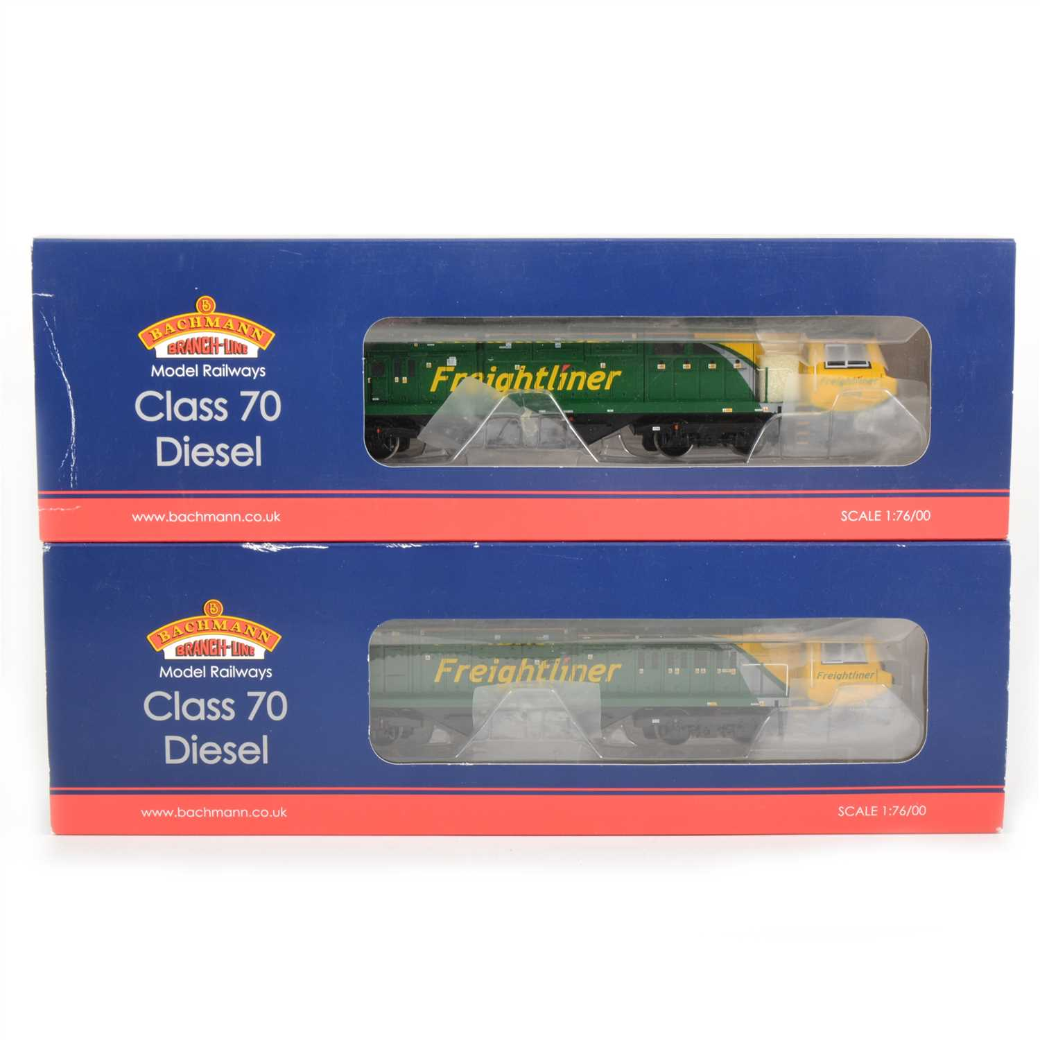Lot 29-Bachmann model railways OO gauge locomotives ; two 31-585 class 70 diesel.