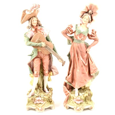 Lot 53-A pair of Royal Dux figures, ...
