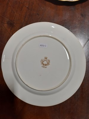 Lot 13-A George Jones cabinet plate, decorated with bird vignettes, ...