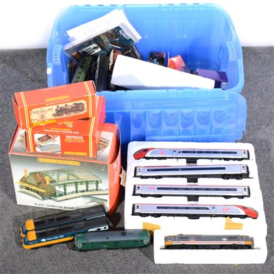Lot 25-OO gauge model railways, mostly Hornby including engines, wagons, coaches, track etc.