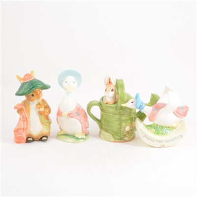 Lot 18-Three contemporary Beatrix Potter inspired money boxes, ...