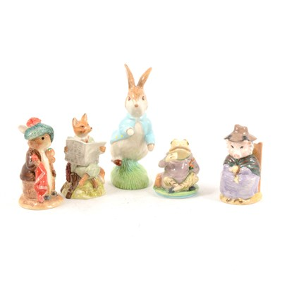 Lot 28-Royal Albert, Beswick and Border Fine Arts Beatrix Potter figures.