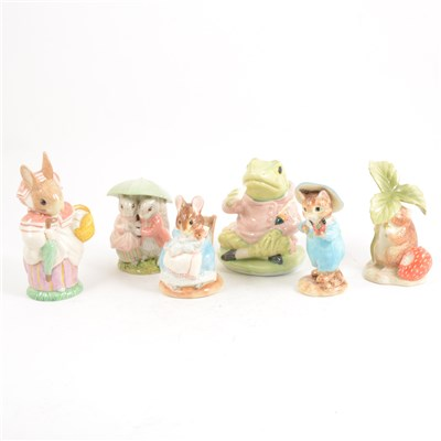 Lot 24-Six Border Fine Arts and Royal Albert Beatrix Potter Figures