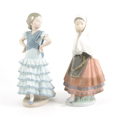Lot 1-Two Lladro figures, ...
