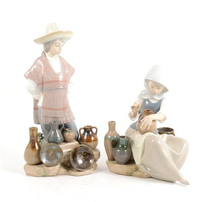 Lot 12-Two Lladro figures, ...