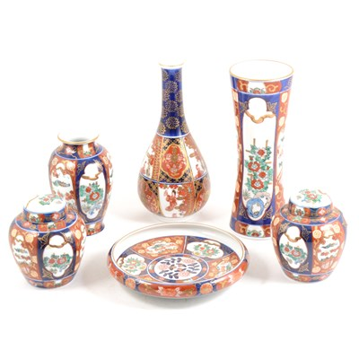 Lot 23-A collection of contemporary 'Gold Imari' ceramics, ...