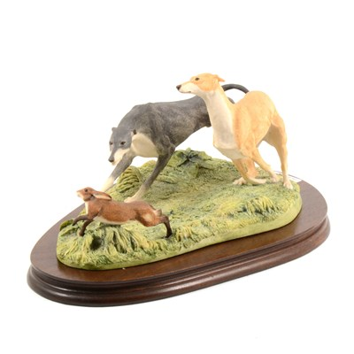 Lot 33-A Border Fine Arts Model, Hare Coursing, ...