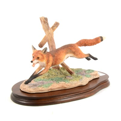 Lot 34-A Border Fine Arts model, Running Fox, ...
