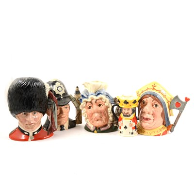Lot 51-A collection of Royal Doulton character jugs, ...