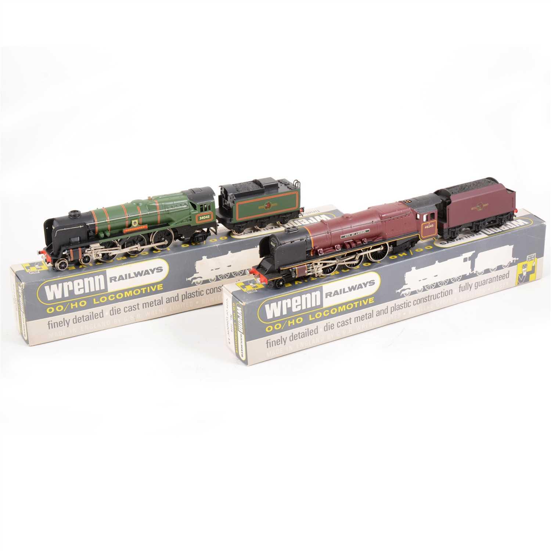 "Lot 16-Two Wrenn OO gauge model railway locomotives; no.2226 ""City of London"" W2236  'Dorchester'., both boxed"