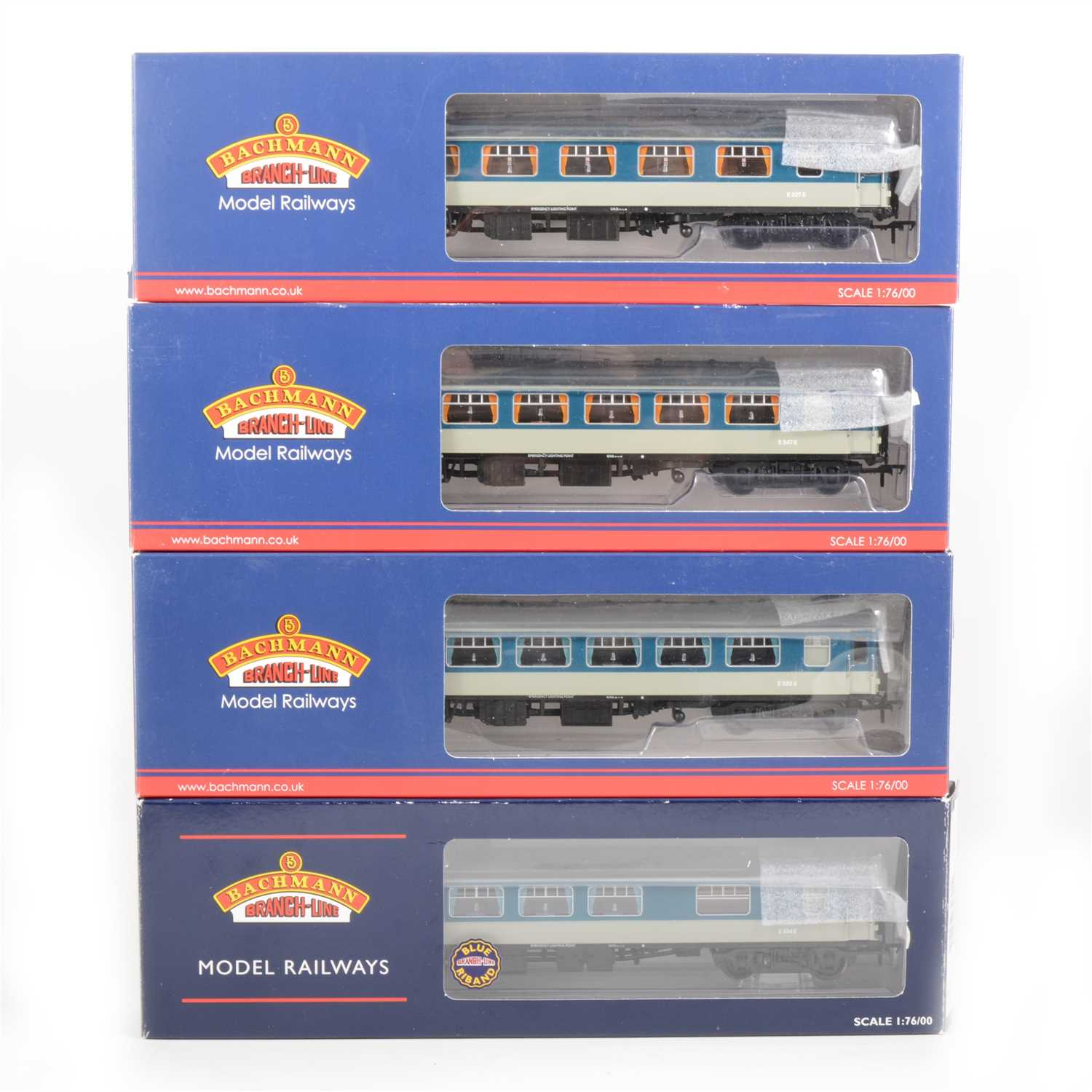 Lot 41-Bachmann OO gauge model railways passenger coaches; four Pullman, all boxed.