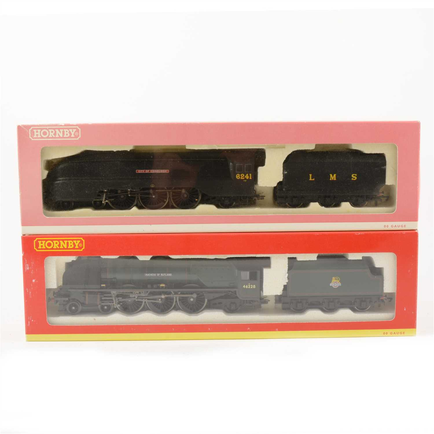 Lot 33-Two Hornby OO gauge model railway locomotives, including 'City of Edinburgh and 'Duchess of Rutland'