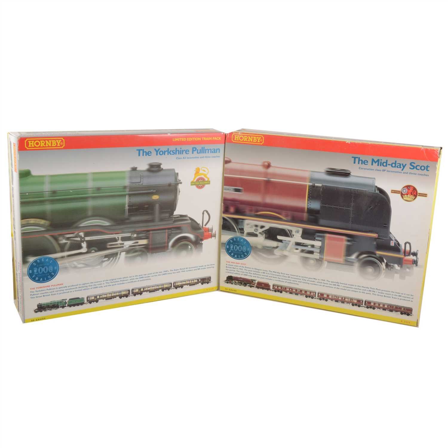Lot 46-Hornby OO gauge model railway sets; two including 'The Yorkshire Pullman', 'The Mid-Day Scot'