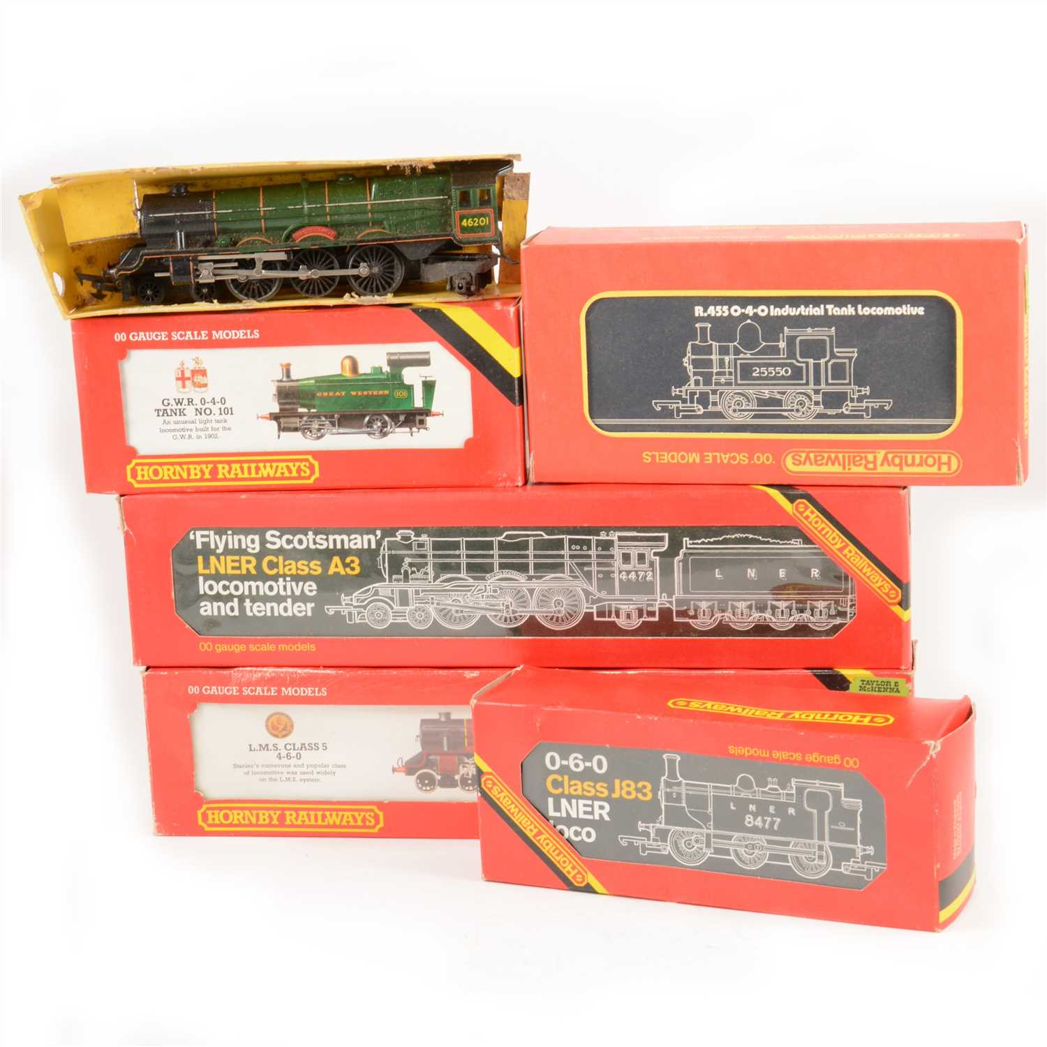 Lot 22-OO gauge model railways; a collection with six locomotives, coaches and accessories.