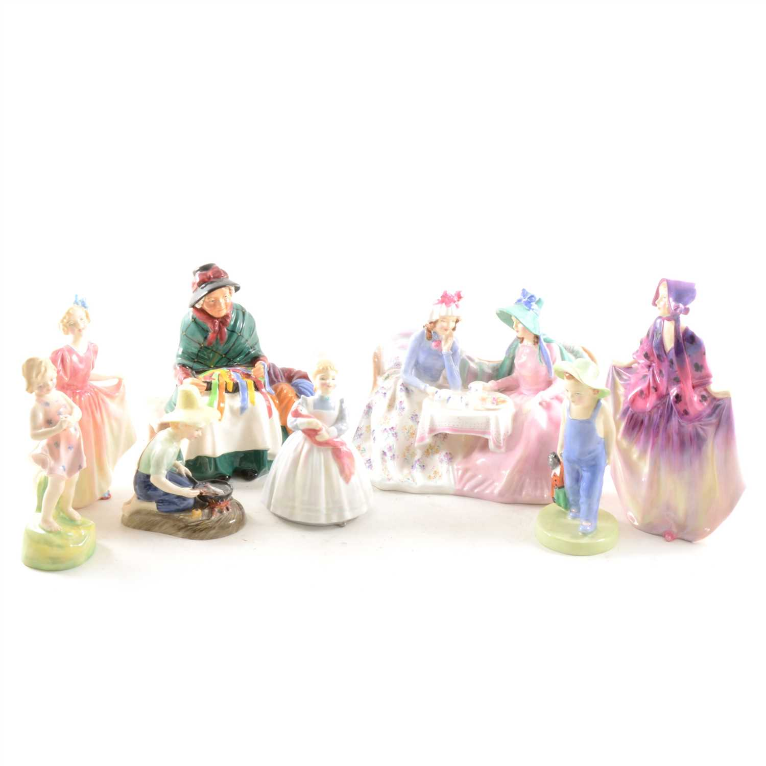 Lot 3-A small collection of Royal Doulton figures, ...