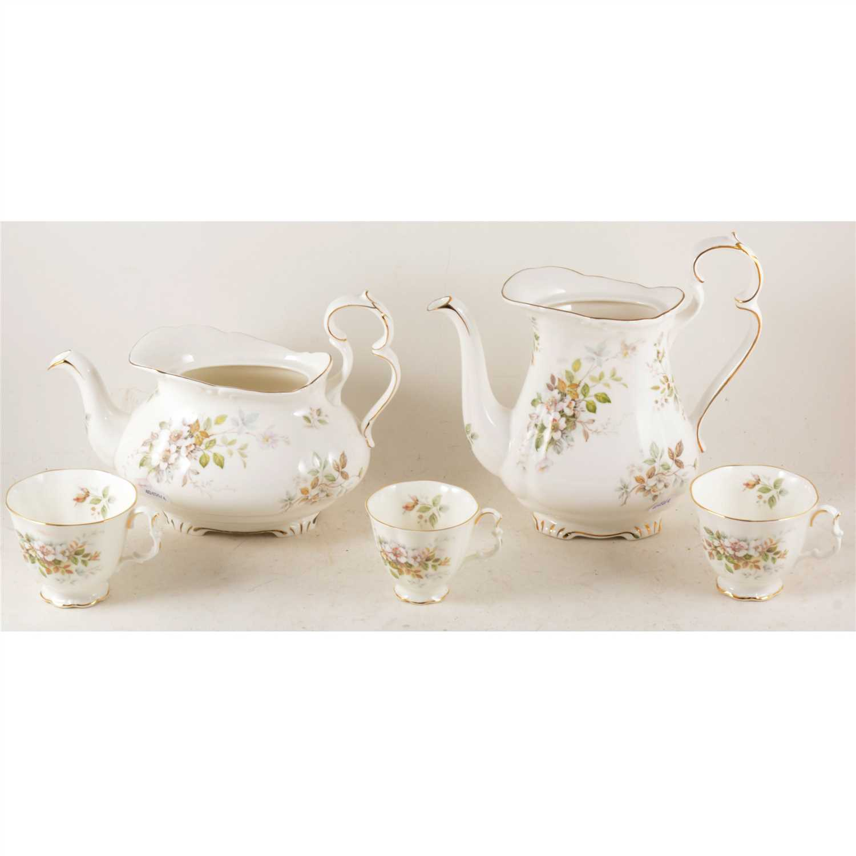 "Lot 25-Royal Albert ""Haworth"" bone china tea service"