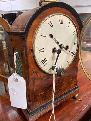 Lot 397-A Regency mahogany bracket clock