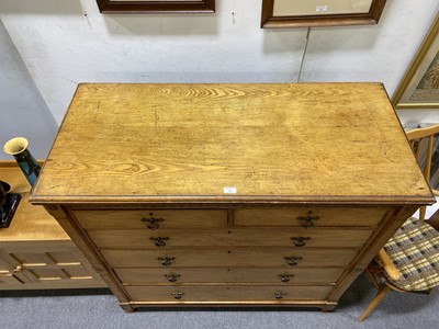 Lot 501-A Gothic Revival ash chest of drawers