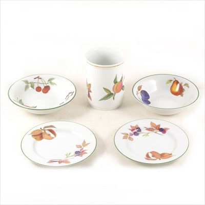 Lot 24-Quantity of Royal Worcester, Evesham Vale pattern, part dinner service.