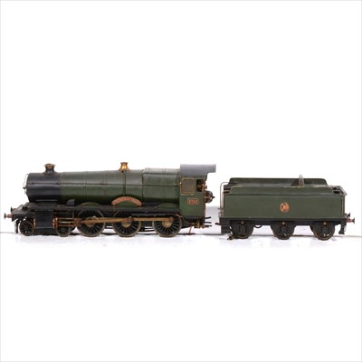 Lot 37-AMENDMENT 2.5inch gauge not 3.5 inch gauge steam locomotive 'Springfield Grange', with tender, and carry boxes.