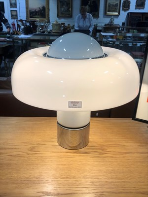 Lot 216 - A 'Brumbury' table lamp, designed by Luigi Massoni for Harvey Guzzini
