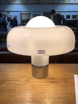 Lot 216-A 'Brumbury' table lamp, designed by Luigi Massoni for Harvey Guzzini