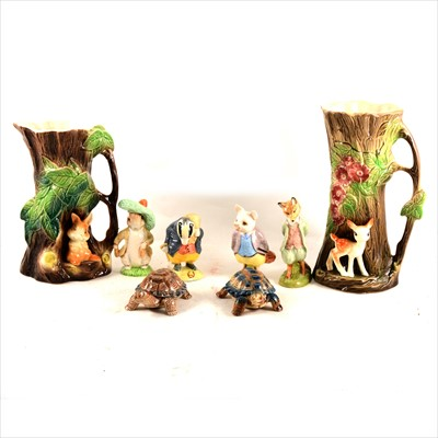 Lot 59-A collection of Beatrix Potter figurines, and other collectable ceramics