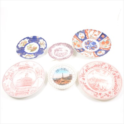 Lot 36-A Copenhagen porcelain charger, Chinese blue and white charger (stapled), and others.