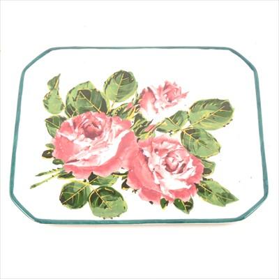 Lot 30-Wemyss pottery tray