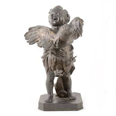 Lot 38-Adriano Cecioni, Boy with a cockerel