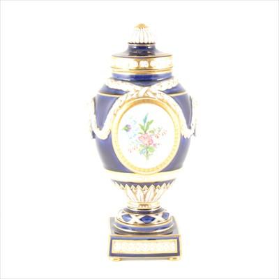 Lot 78-A KPM Berlin porcelain pedestal vase and cover