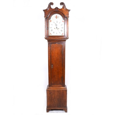 Lot 29-A Geirge III longase clock, siged Thomas Scott, Gainsborough